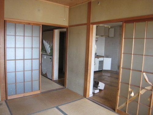 和室から台所