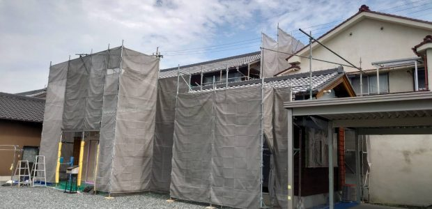 太陽建設の外壁塗装工事